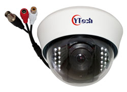 15M IR 5.0M Pixel HD AHD Audio Dome Camera