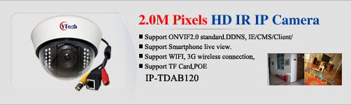 2.0M 1080P HD Realtime IP network Camera